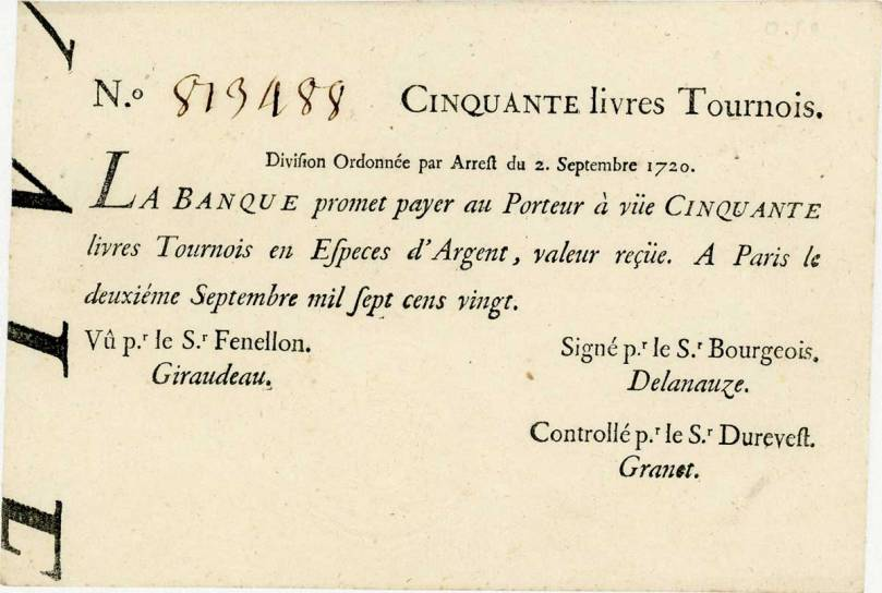 50_livres_tournois_typographiées_et_datées_du_2_Septembre_1720